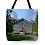 Red Door Of The One Room School House Tote Bag