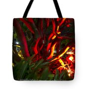 Red Entanglement Tote Bag