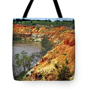 Red Eroded Soil Tote Bag