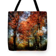 Red Fall Tote Bag