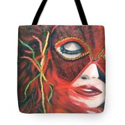 Red Flare Tote Bag