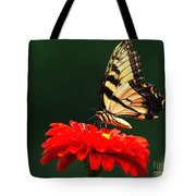 Red Flower And Butterfly Tote Bag