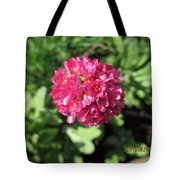 Red Flower Ball Tote Bag