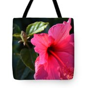 Red Flower Tote Bag by Saifon Anaya