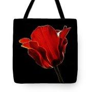 Red Fractal Tulip Tote Bag