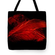 Red Ghost On Black Tote Bag