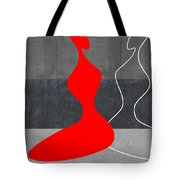 Red Girl Tote Bag