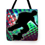 Red Green And Blue Abstract Boxes Skateboarder Tote Bag