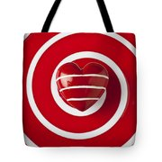 Red Heart Soft Stone Tote Bag