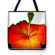 Red Hibiscus With Special Effects Tote Bag