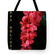 Red Holiday Greeting Card Tote Bag