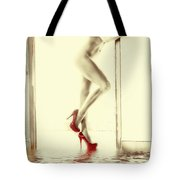 Red Hot Fire And Flood Tote Bag