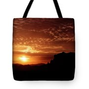 Red Hot Sunrise  Tote Bag