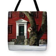 Red House And Snow Tote Bag