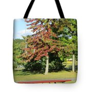 Red In Sunlight Tote Bag
