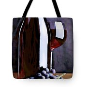 Red In The Shadows Tote Bag by Elaine Plesser