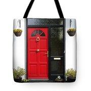 Red Irish Door Tote Bag