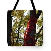 Red Ivy Climb Tote Bag