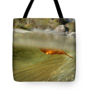 Red Leaf Floating Tote Bag