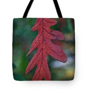 Red Leaf Hanging Tote Bag