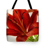 Red Lily Number Two Tote Bag