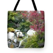 Red Maple Above The Falls Tote Bag