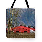 Red Matsqui Barn Tote Bag