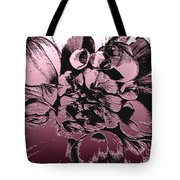Red Metallic Dahlia Named Who Dun It Tote Bag