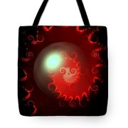 Red Nautilus Tote Bag