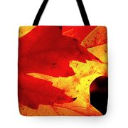 Red On Gold Tote Bag