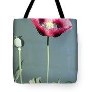Red Opium Poppy Tote Bag