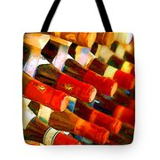 Red Or White Tote Bag by Elaine Plesser
