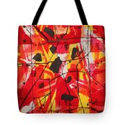 Red Orange Abstract Tote Bag