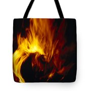 Red, Orange And Yellow Flickering Tote Bag