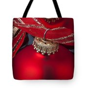 Red Ornaments Tote Bag