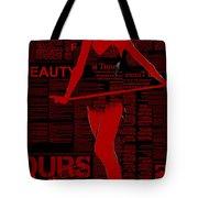Red Paper Dance Tote Bag