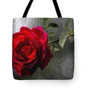 Red Paris Rose Tote Bag