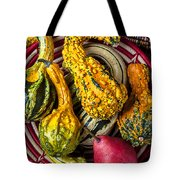 Red Pear And Gourds Tote Bag