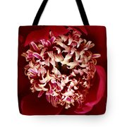 Red Peony Flowers Series 5 Tote Bag