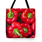 Red Peppers Tote Bag by Joana Kruse