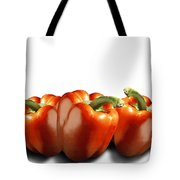 Red Peppers On White Tote Bag