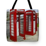 Red Phone Booths Tote Bag
