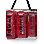 Red Phone Boxes Tote Bag