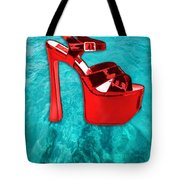 Red Platform Divers Tote Bag