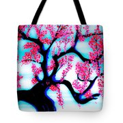 Red Plum Oriental Influence Tote Bag
