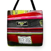 Red Pony Car Tote Bag