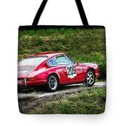 Red Porsche Running Away Tote Bag