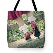 Red Pumps Tote Bag by Joana Kruse