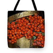 Red Pyracantha Berries Tote Bag