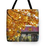 Red Railroad Trestle Tote Bag